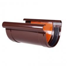 """Cоединитель желоба коричневый """"Profil"""" 90 мм"""